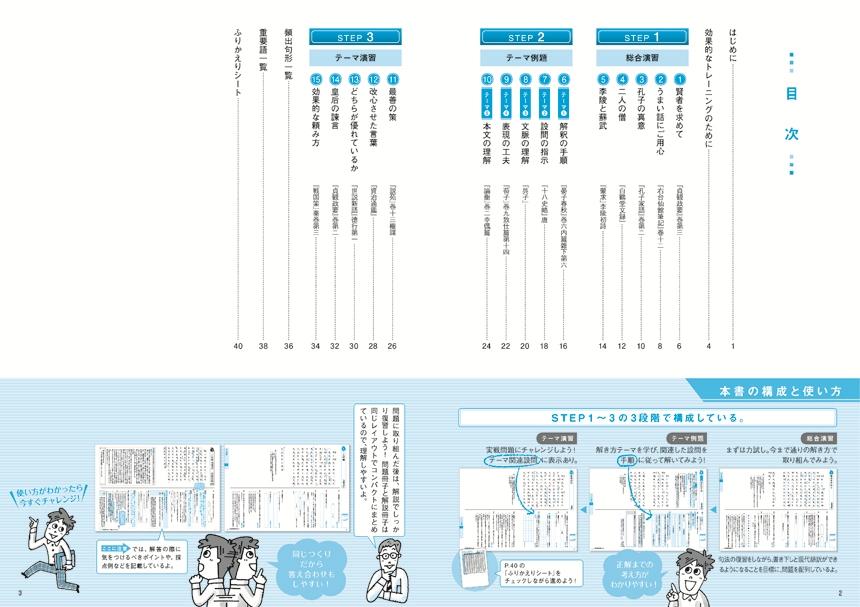 基礎からの総合トレーニング古典3漢文記述編「目次」