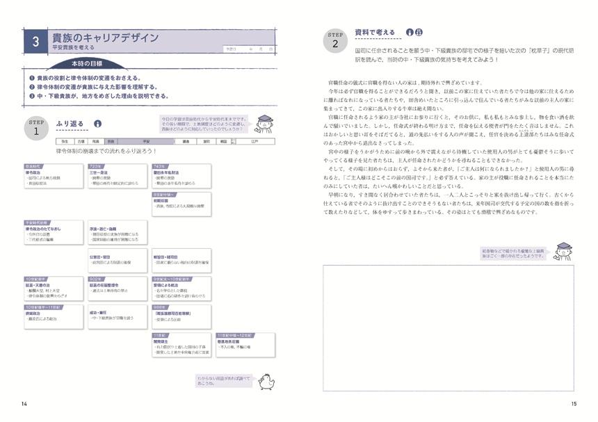 学ぶキミを引き出す 日本史[原始・古代〜近世]「生徒用ワーク」