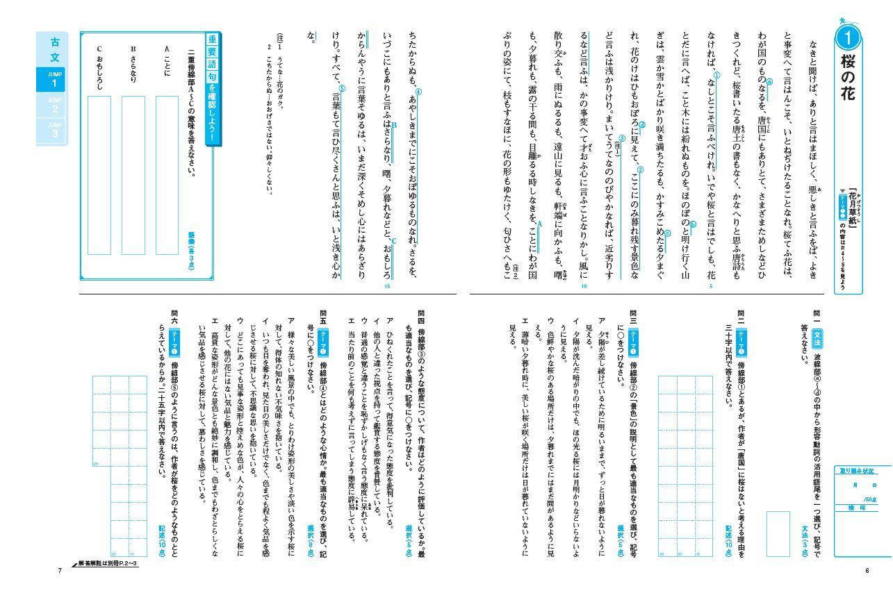基礎からの総合トレーニング古典1演習JUMP編:冊子版「読解のテーマを確認しよう」