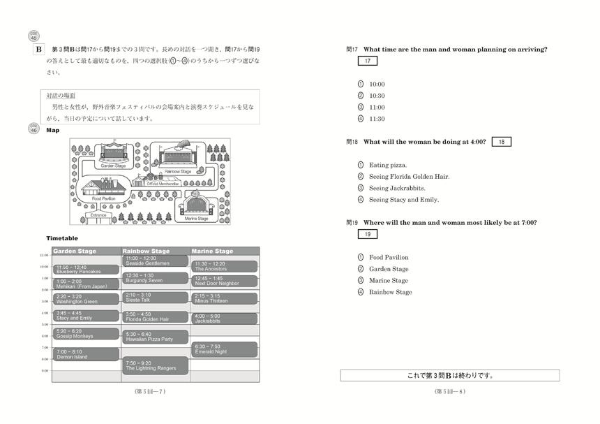 2019進研[センター試験]直前演習 英語(リスニング)30minutes×7(問題冊子・解答バラ版)「問題1」