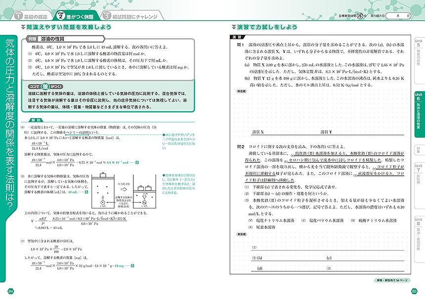 進研WINSTEP 化学[改訂版]「問題1」